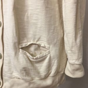 J. Crew Tops - J.crew rumpled French terry cardigan sweatshirt L